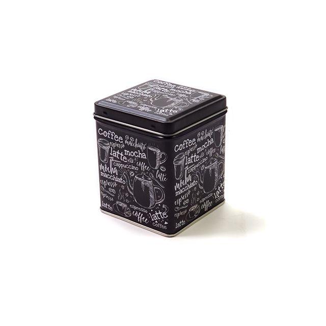 Vierkant blik S - 500 ml - Koffieprint