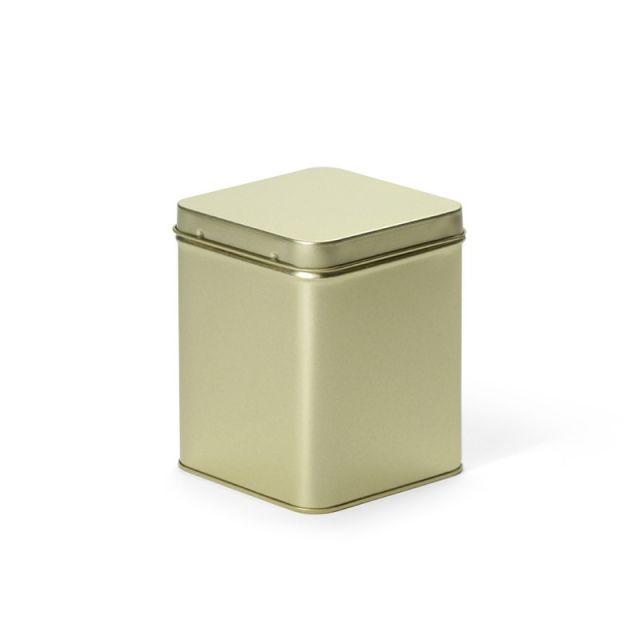Vierkant blik goud M - 850 ml