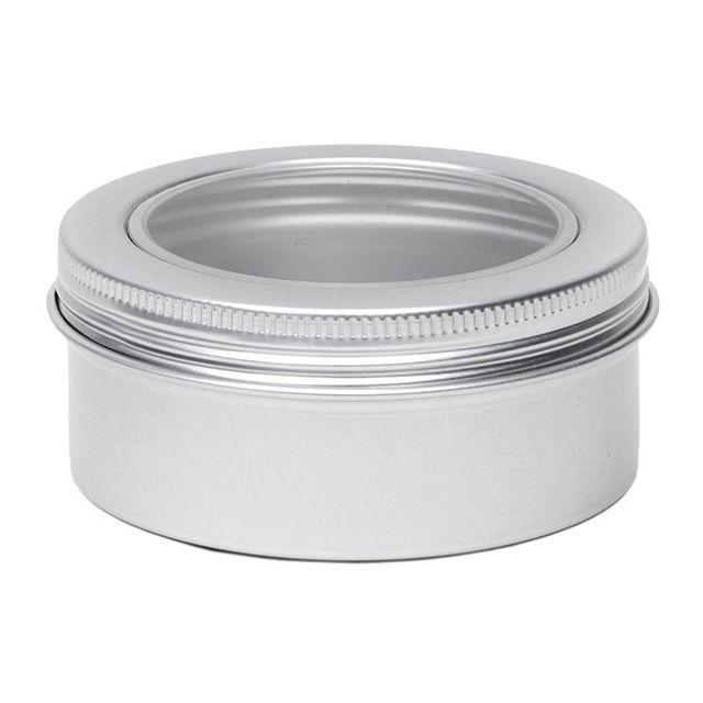 Aluminium blik rond met venster - 80 ml