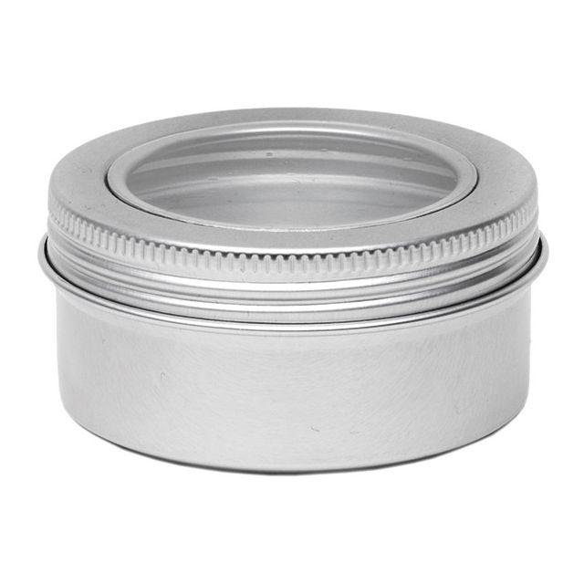 Aluminium blik rond met venster - 150 ml