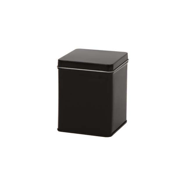 Vierkant blik zwart S - 500 ml