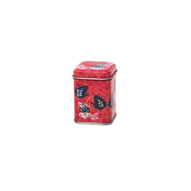 Vierkant blik XXS - 125 ml - Red Tea