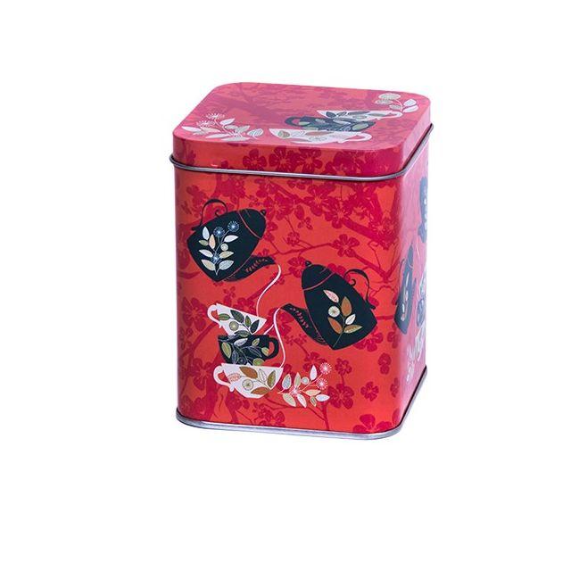 Vierkant blik M - 850 ml - Red Tea