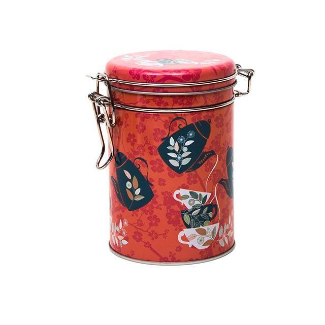 Rond blik met klipsluiting - Red Tea