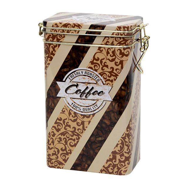 Hoog voorraadblik met klipsluiting - Freshly Roasted Coffee