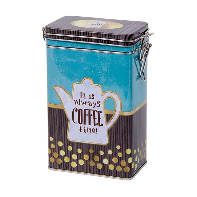 Hoog voorraadblik met klipsluiting - Koffietijd