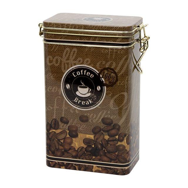 Hoog voorraadblik met klipsluiting - Italian Coffee