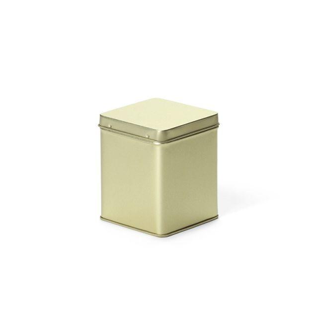 Vierkant blik goud S - 500 ml