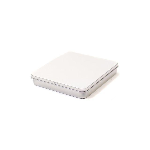 Vierkant plat blik met scharnierdeksel - klein