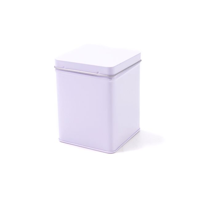 Vierkant blik wit S - 500 ml