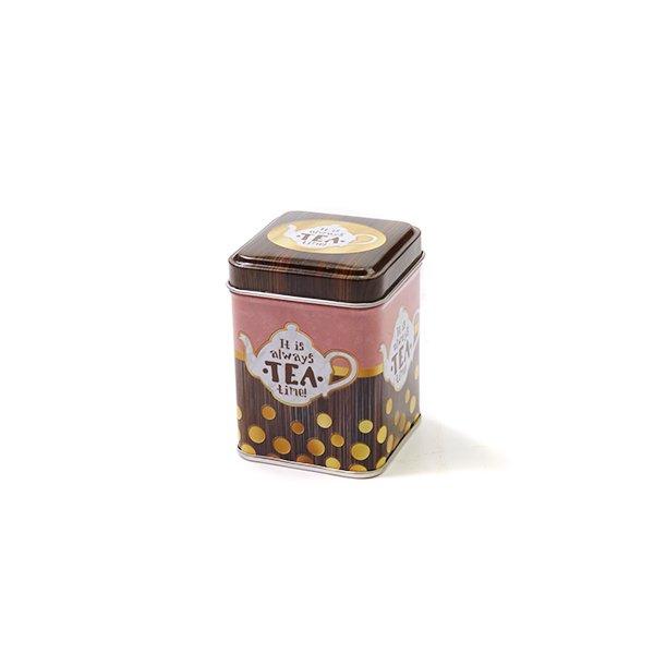 Vierkant blik tea time XS – 275 ml