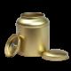 Blik met koepeldeksel - medium goud