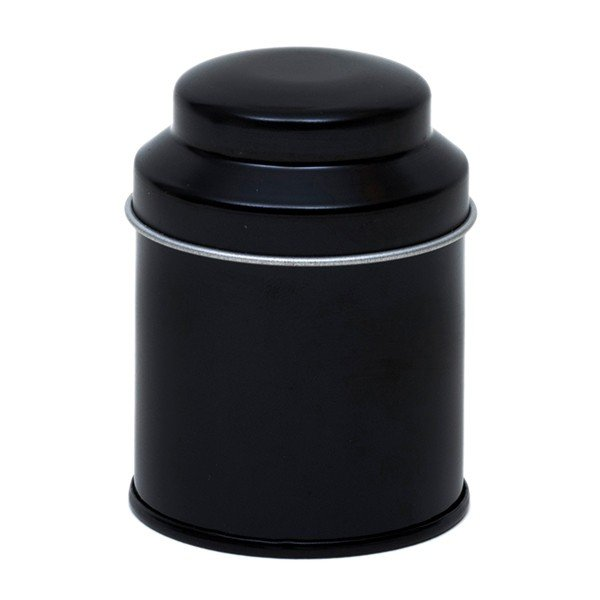 Blik met koepeldeksel - klein zwart