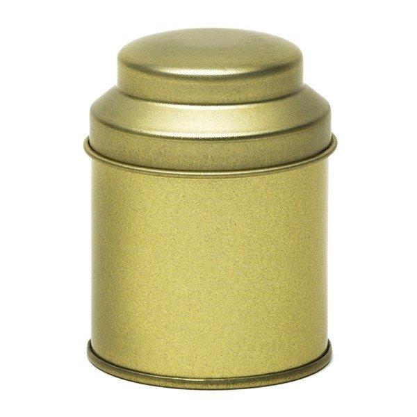 Blik met koepeldeksel - klein goud