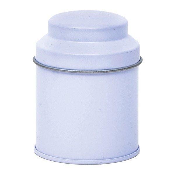Blik met koepeldeksel - klein wit