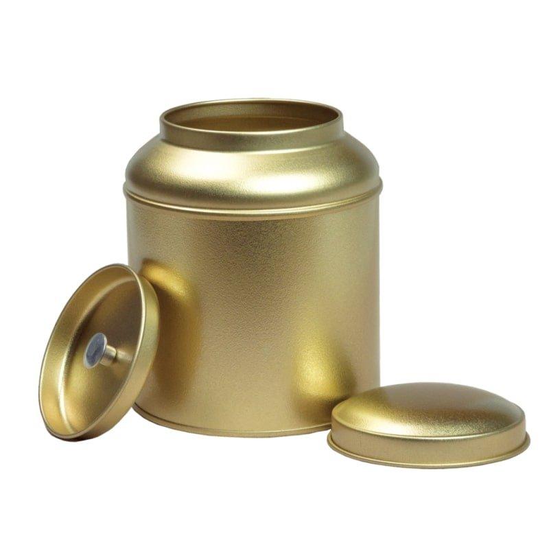 Blik met koepeldeksel - goud