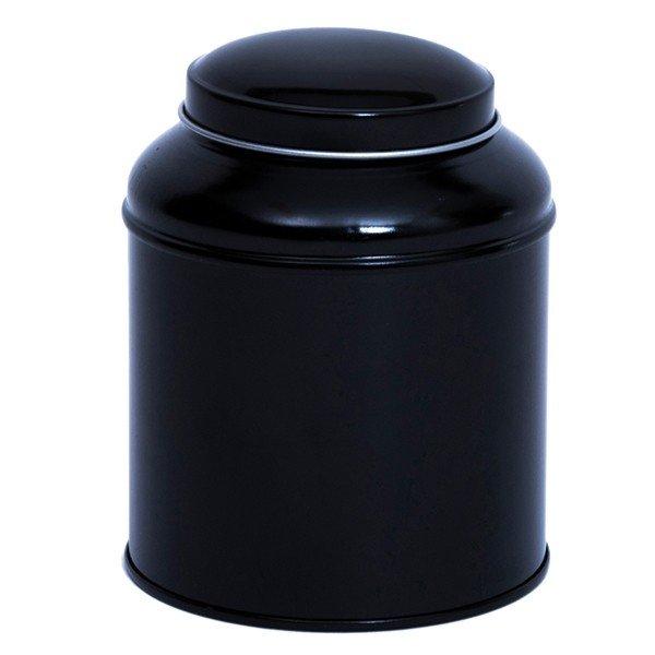 Blik met koepeldeksel - medium zwart