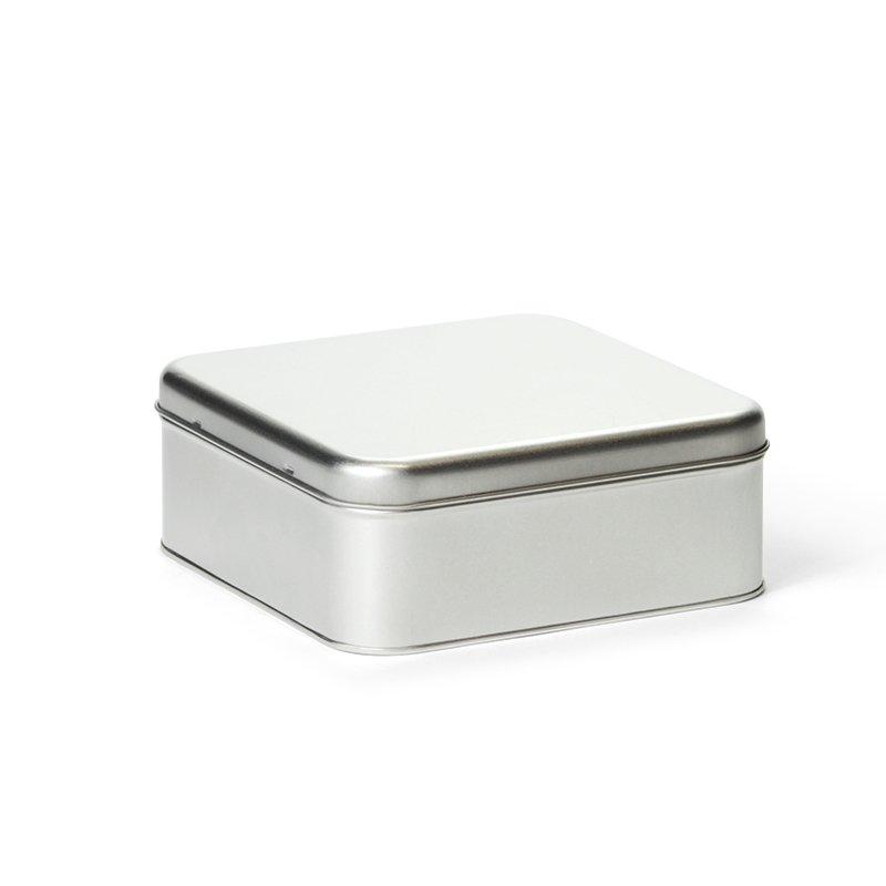 Cakeblik vierkant zilver