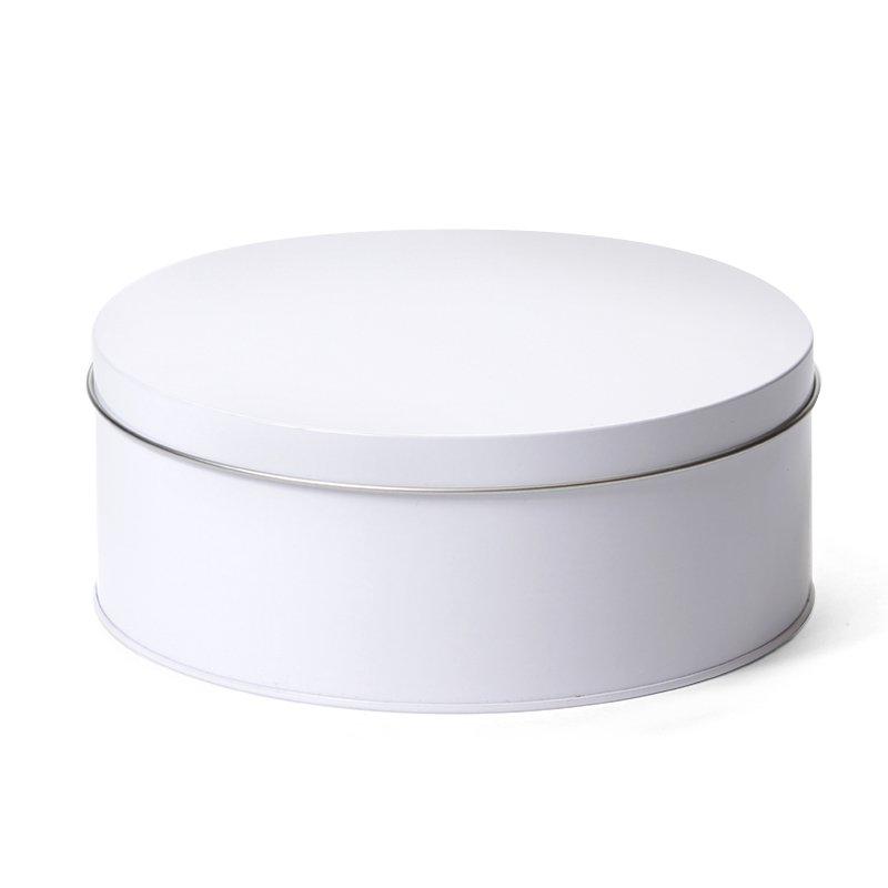 Rond koekblik wit