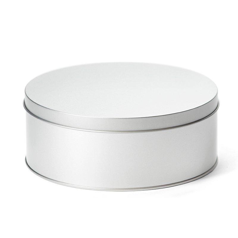 Rond koekblik  zilver