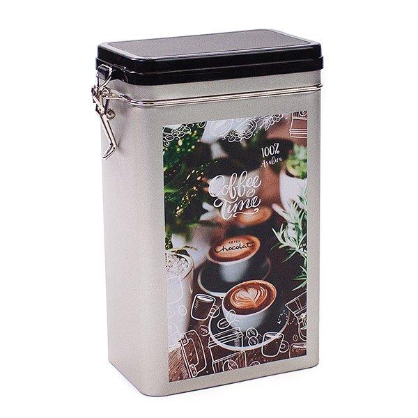 Koffieblik met sticker