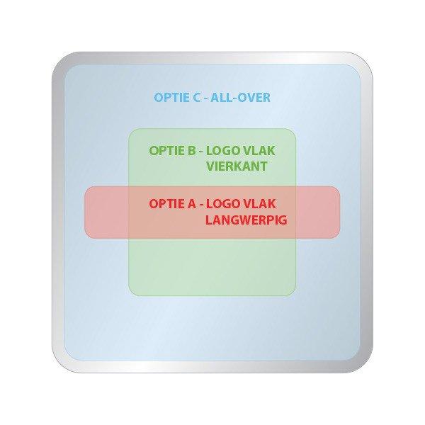 Opties dekselbedrukking vierkant