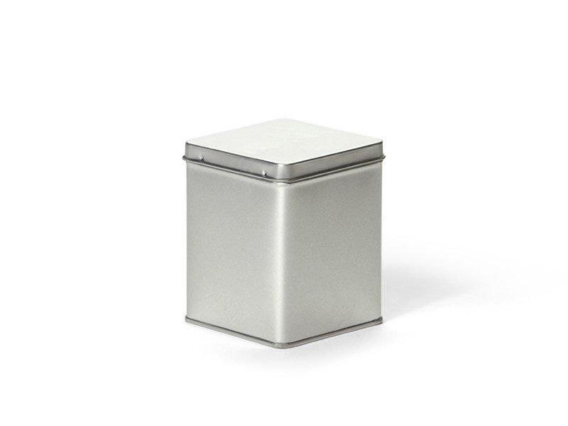 Vierkant blik 100 gram zilver
