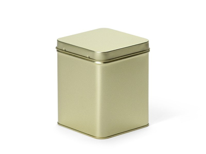 Vierkant blik 200 gram goud