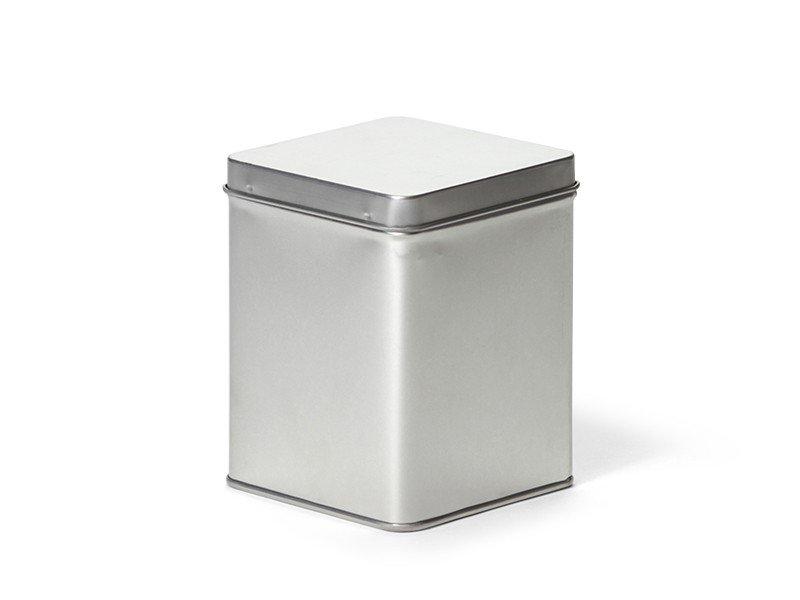 Vierkant blik 200 g zilver