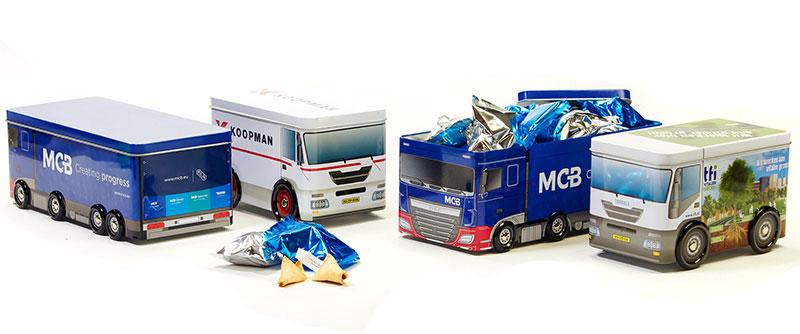 All-over bedrukt bus- en vrachtwagenblik
